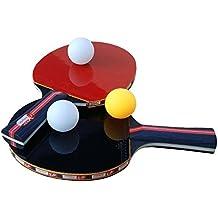 Easy-Room Tischtennisschläger, Tischtennis Set, 2 Tischtennis-Schläger und 3 Tischtennis-Bälle