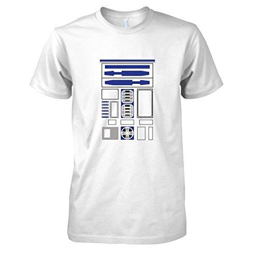 TEXLAB - R2 D2 Uniform - Herren T-Shirt, Größe XXL, weiß