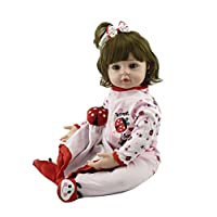 Pinky 20 Inch 52cm Soft Silicone Reborn Toddler Baby Doll Realistic Real Lifelike Looking Newborn Dolls Baby Girl Princess GIFT