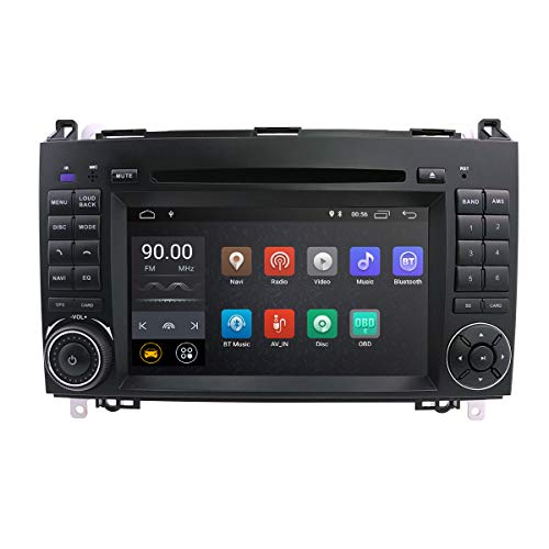 hizpo Android 8.1 Car Audio Stereo for mercedes BENZ A B Class 1024 * 600 Touch DVD Player Double DIN Head Unit Support GPS Sat nav, DAB +, BT, RDS radio, Mirror Link, swc, 4 G WIFI, Cam-in, obd2, DVR Pro-car-audio