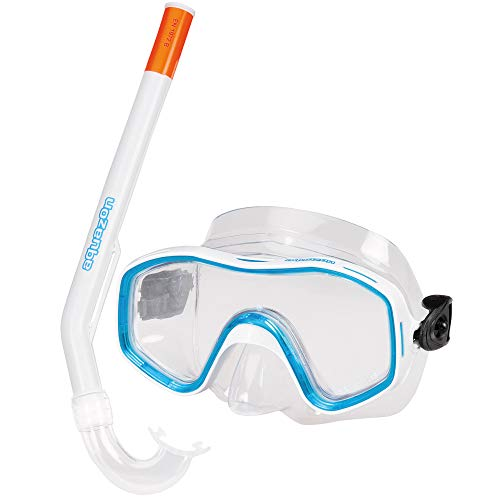 AQUAZON Kids Preisgünstiges Schnorchelset, Tauchset, Schwimmset, mit Schnorchelbrille und Schnorchel für Kinder von 4-9 Jahren, Farbe:blau