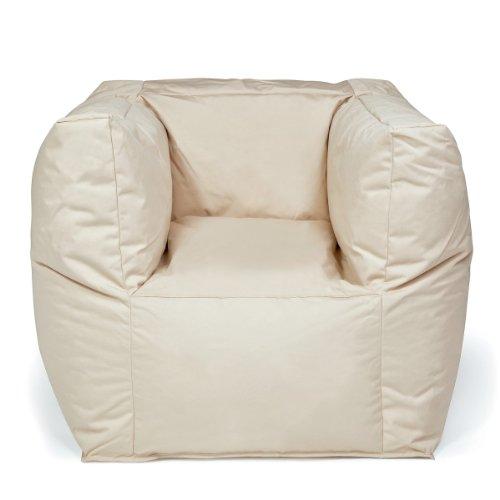 Pushbag Sitzsack Valley Plus (100% Polyester), 90x60x65cm, 500l, beige
