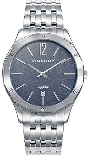 Viceroy Reloj Analogico para Hombre de Cuarzo con Correa en Acero Inoxidable 471129-35