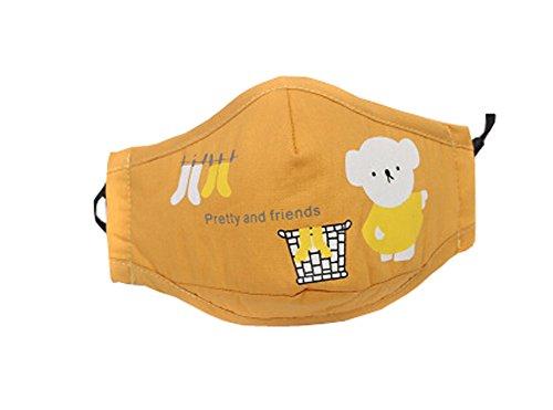 joli Le masque pour enfants pour l'anti-smog, Jaune(19.5*12 cm)