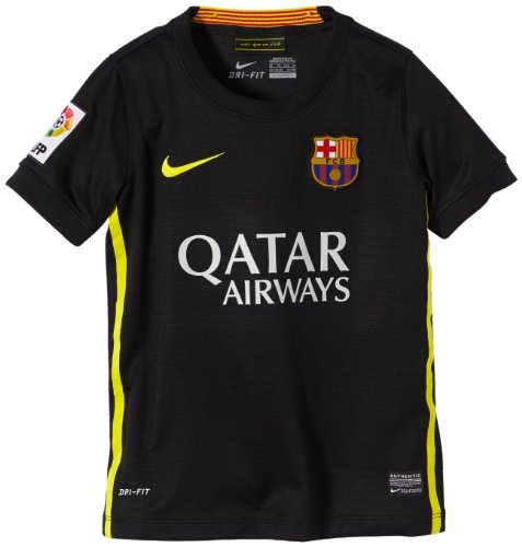 NIKE Jungen Trikot FC Barcelona Third Replica Black Vibrant Yellow, XL