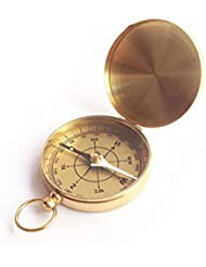 Reloj De Bolsillo De La Vendimia Luminosa Y Cobre Aire Libre A Todo El Turismo Brújula Brújula De Regalo,Gold