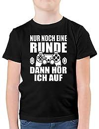 Shirtracer - Sprüche Kind - Nur noch eine Runde - Kinder Tshirts und T-Shirt für Jungen