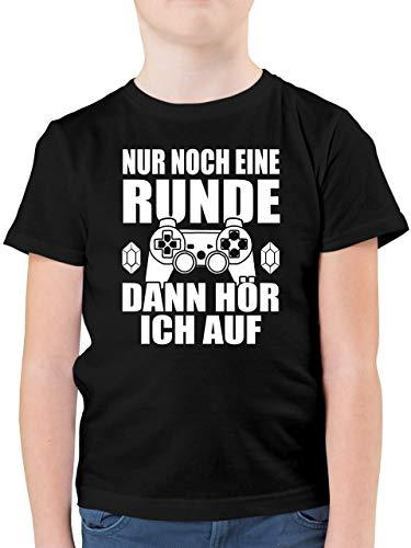 Sprüche Kind - Nur noch eine Runde - 152 (12/13 Jahre) - Schwarz - F130K - Kinder Tshirts und T-Shirt für Jungen