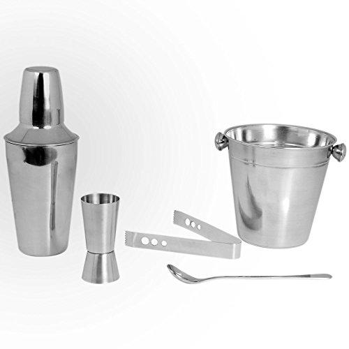 Kosma - Set per cocktail in acciaio inox, 5 pezzi,