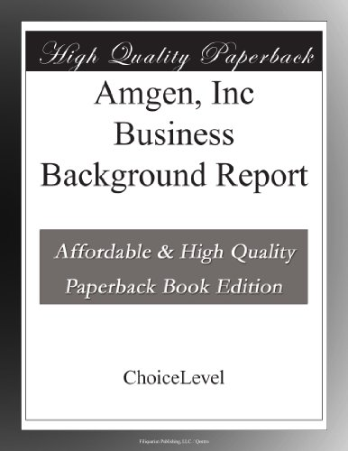 amgen-inc-business-background-report