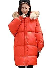 Parka Mujer Invierno Largos Elegante Caliente Plumas Abrigo Acolchado con  Capucha De Piel Suave Fiesta Estilo b8f3cd3e14ae