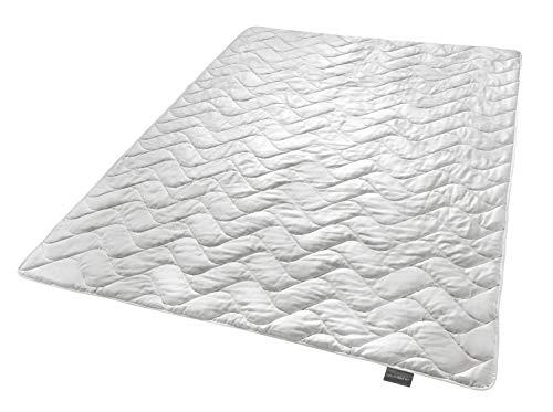 Traumnacht Exklusiv leichtes Steppbett 100% Wildseide für den Sommer, Füllgewicht: 700gr, 155 x 220 cm (Bettbezug 700)
