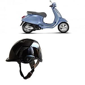 Kandid Open Face Men & Women Helmet For Hero Splendor I Smart (Black)