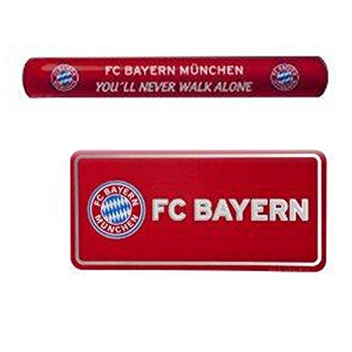 Preisvergleich Produktbild Fanset FC Bayern München, Snapper & XL Fanlabel mit Magnet und zum kleben