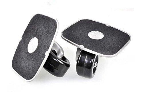 Black Portable Roller Road Drift Skates Plate Anti-slip Board Aluminum Truck With PU Wheels With ABEC-7 608 Bearings by JINCAO (Trucks Roller Skate Und Wheels)