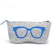 VWH Sunglass Bag Portable Glasses Case Box Frame Storage Pouch ((blue)