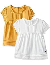 Mothercare Baby Girls' Animal Print Regular Fit T-Shirt (Pack of 2)
