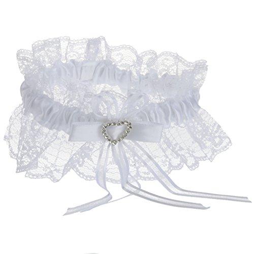 MagiDeal alla Moda Donna Ragazza Bianco Giarrettiera
