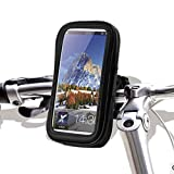 NARAMYSTORE Bicycle Motorcycle Handlebar Mount Case Waterproof Phone Holder for 5-inch GPS Black