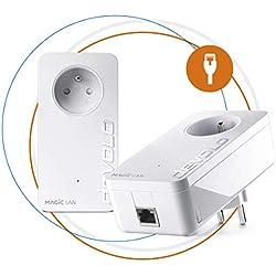 devolo Magic 2 LAN: Starter Kit CPL le plus rapide au monde pour un réseau internet dans toute la maison via la ligne électrique, technologie G.hn