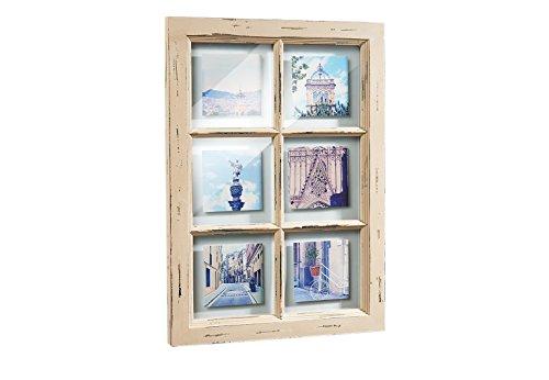 Bilderhalter Window in Form eines Fensters 52x37 cm mit 6 Ausschnitten (Vintage Fenster)