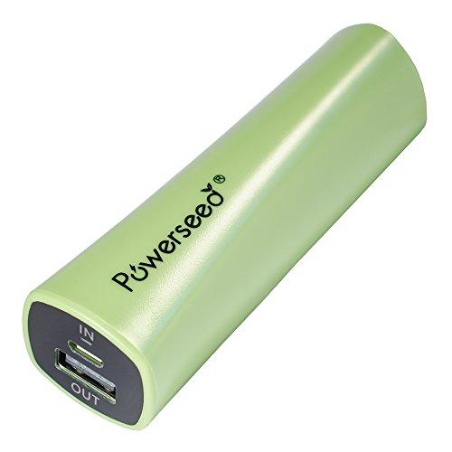 Powerseed® Rainbow, 2.400 mAh. Caricabatteria Portatile. Ricarica completa per un iPhone 5s, 80% per un iPhone 6, 70% per il Samsung Galaxy S6. Compatibile con tutti i dispositivi con porta di ricarica USB. Colore: Verde