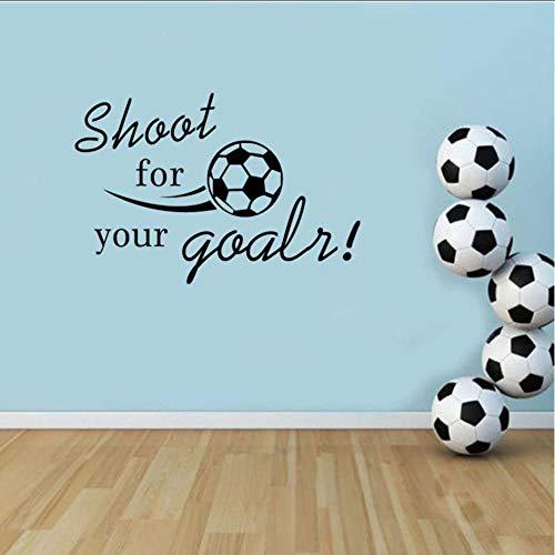 Wandaufkleber Schießen Sie Für Ihre Ziele Fußball Decals Vinyl Wandaufkleber Für Kinder Kinderzimmer Schlafzimmer Moderne Wand Kunst Home Decor Abnehmbare -