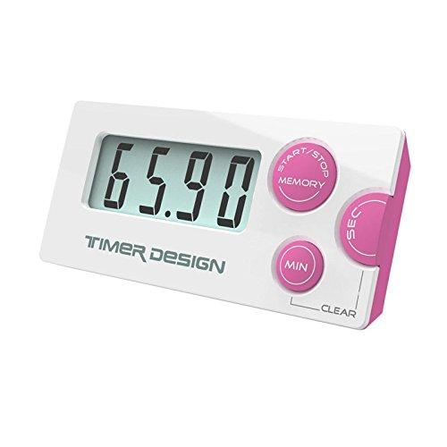 Incutex digitaler Küchentimer Kurzzeitmesser Eieruhr Stoppuhr mit LCD Display und...