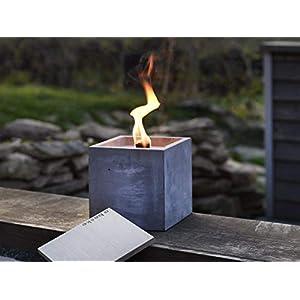 Beske-Betonfeuer mit 'Dauerdocht' | Größe 17x17x17 | Wiederbefüllbare Gartenfackel | 'Unendliche' Brenndauer durch…