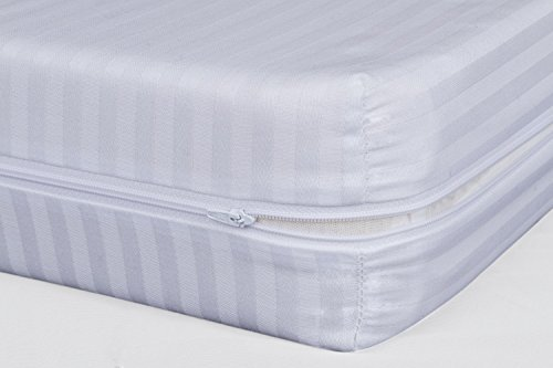 Coprimaterasso Sacco Con Cerniera.Pikolin Home Coprimaterasso A Sacco In Tessuto Fasciato 100 Cotone 80 X 200 Cm Letto Da 80 Colore Bianco