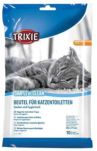 Trixie Pack de 10 Sacs pour Bac de Litière pour Chat 56 x 71 cm Taille XL