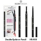 Hilary Rhoda Double Eyebrow Pencil with Eyebrows Brush (Black)