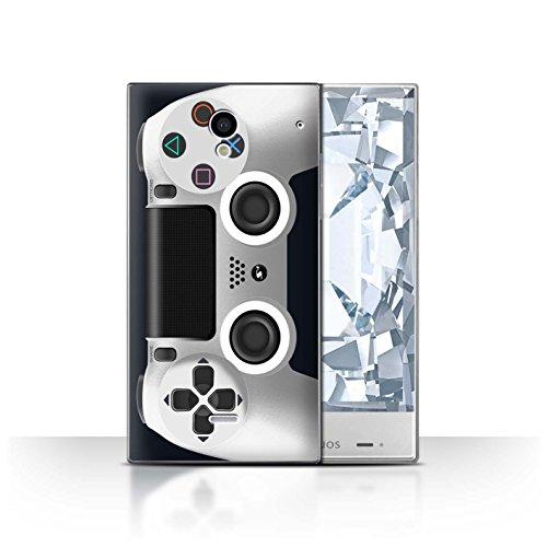 Case Crystal Sharp (Stuff4 Hülle / Case für Sharp Aquos Crystal/306SH / Weiß Muster / Playstation PS4 Kollektion)