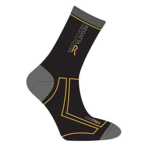regatta-mens-2-season-coolmax-trek-trail-sock-black-gold-heat-9-12