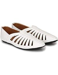 fd2cabb2001 RJKART Faux Leather Partywear Casual Fancy Mojari Jutties Nagra Shoes for  Men s Boys