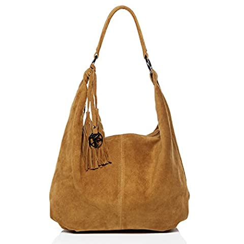 BACCINI large hobo bag - shoulder bag SELINA with frings