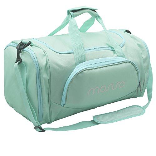MOSISO Sport Gym Tasche Reisetasche mit vielen Fächern, Schultergurt, Tragegurt Kompatibel Fitness, Sport und Reisen Sporttaschen mit Designs, Heiß Blau