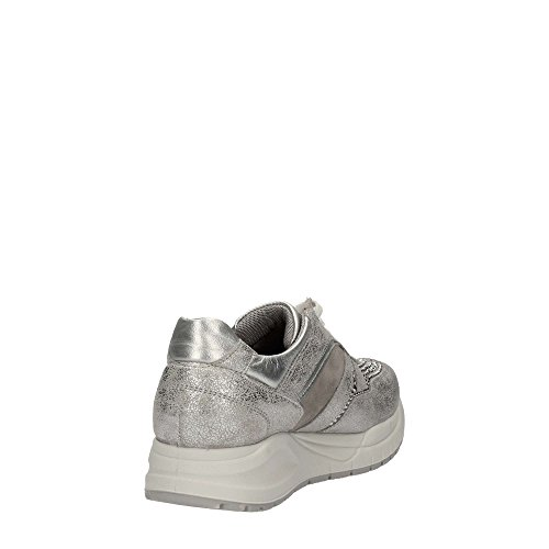 7777 ARGENTO Scarpa donna sneaker Igi&co pelle made in italy Silber