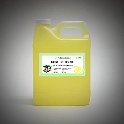 Organic Kukui Nut Oil Cold Pressed 100% Pure 32 Oz / 1 Quart