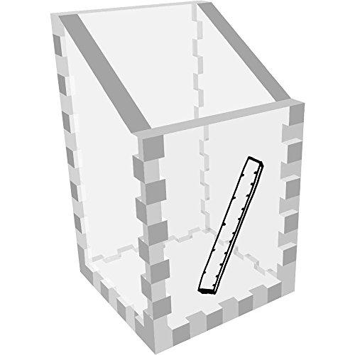 Azeeda Mini 'Lineal' Klar Schreibtisch Aufgeräumt / Stiftehalter (DT00063086) (Klare Mini-lineal)