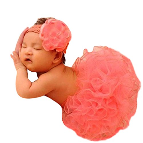 Swashh ( SET OF 2 ) Big Baby (1-3 years) Peach Tutu Skirt With Headband Net Clothing / Photography Props Best Baby shower Gift