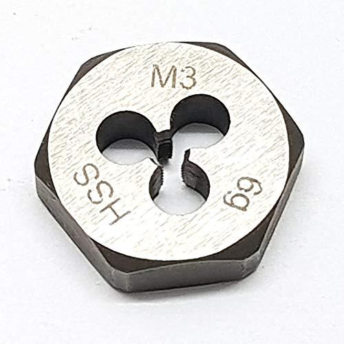 M3 Schneideisen SECHSKANT Schneidmutter Regelgewinde