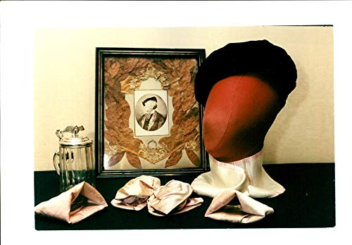 Black Velvet Bow (Fotomax Vintage Photo of Black Velvet Beret and Bow tie Pair of Cuffs of Richard Wagner)