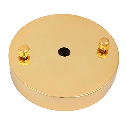 Decken-baldachin Kit (sourcing map Decken Baldachin Kit LED Licht Basis 100mm X 19mm Gold Ton)