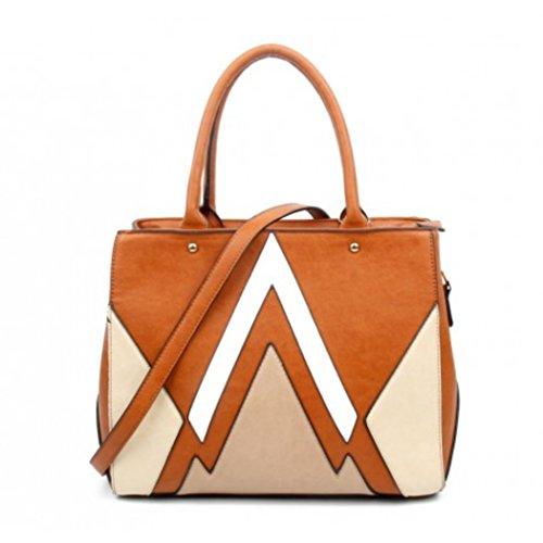 645ff2edc0b24 LeahWard Große Taschen für Frauen Qualität Faux Leder Schultertaschen  Taschen für die Schule CW0155 (Braun. Tasche mit Charme  ...