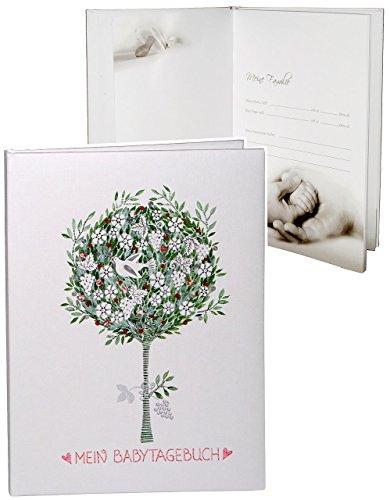 Unbekannt Tagebuch Baby -  Mein Babytagebuch  - Gebunden zum Einkleben & Eintragen - groß - Fotobuch / Fotoalbum / Babyalbum / Album - für Mädchen & Jungen - Kinder B..
