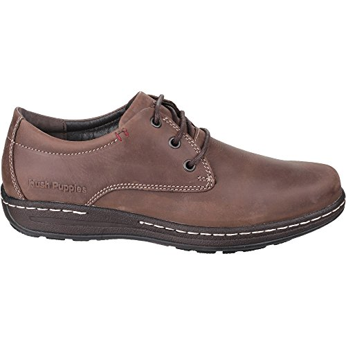 Hush Puppies Villy Victory, Derby Homme, Marron Brown Nubuck