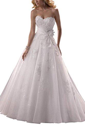 GEORGE BRIDE Prinzessin Brust mit einer Feder Taille mit einer Schleife A-Linie Brautkleider...