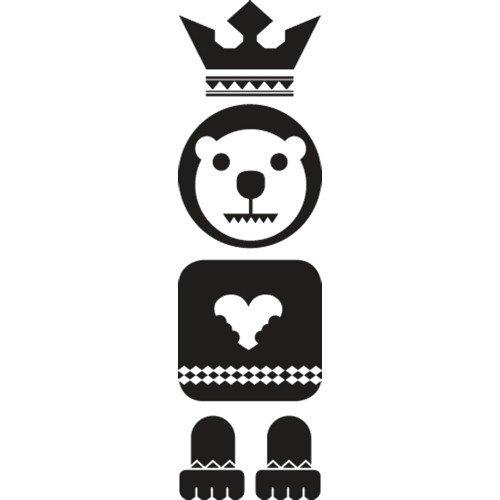 Set di adesivi Totem Bear, Nero