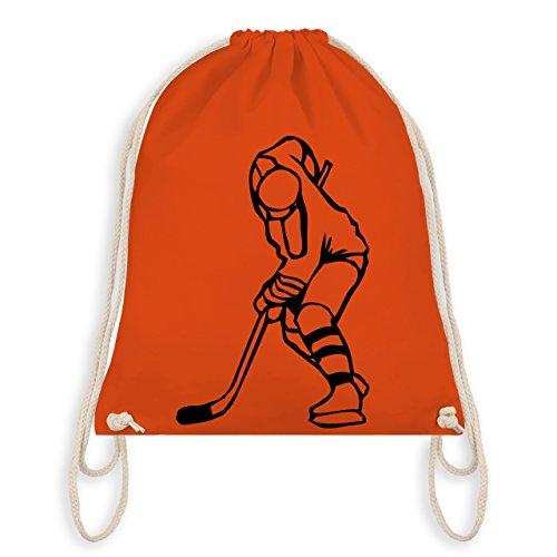 Eishockey - Eishockey - Unisize - Orange - WM110 - Turnbeutel & Gym Bag